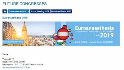 Euroanaesthesia2019